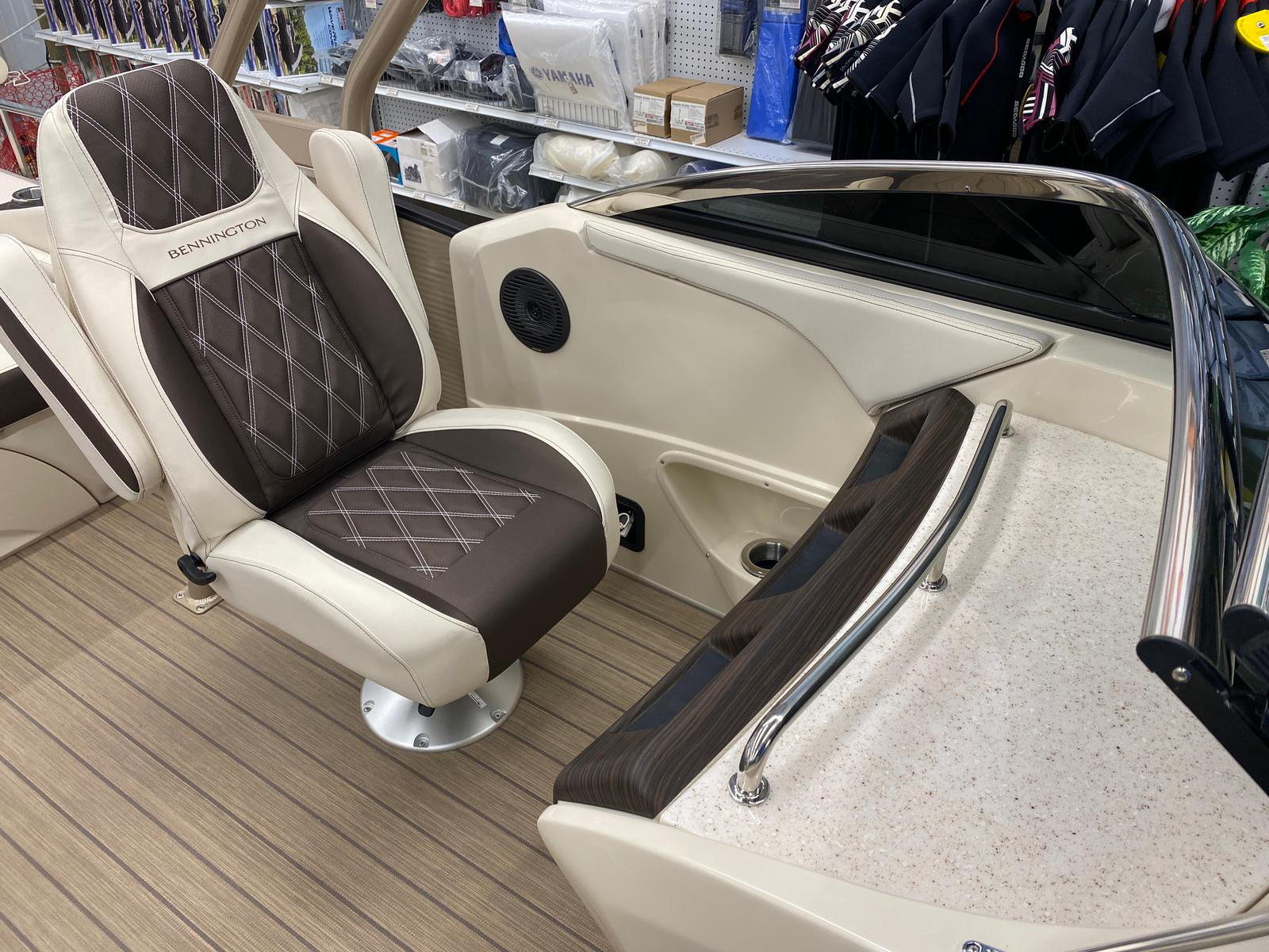 2021 Bennington boat for sale, model of the boat is 23 RSBWA WSHLD DLX Fold Open SP Arch Tri-Toon ESP Package & Image # 22 of 25