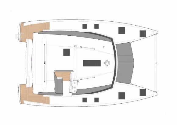Manufacturer Provided Image: Fountaine Pajot Lucia 40 Deck Layout Plan