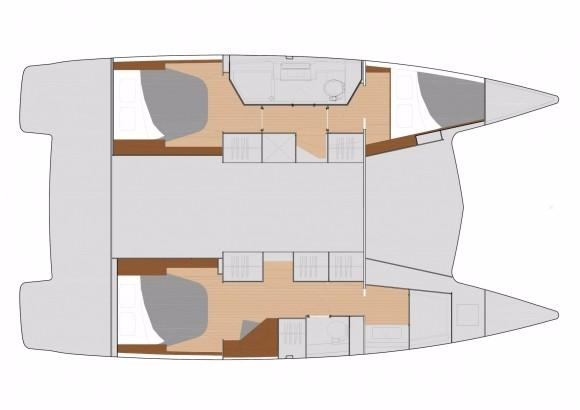 Manufacturer Provided Image: Fountaine Pajot Lucia 40 Cabin Layout Plan