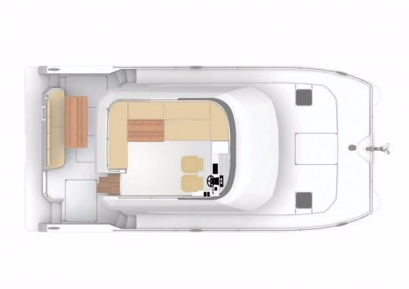 Manufacturer Provided Image: Fountaine Pajot MY 37 Flybridge Layout Plan