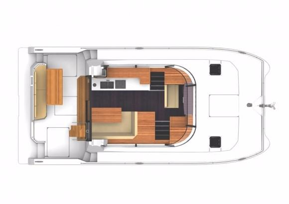 Manufacturer Provided Image: Fountaine Pajot MY 37 Deck Layout Plan