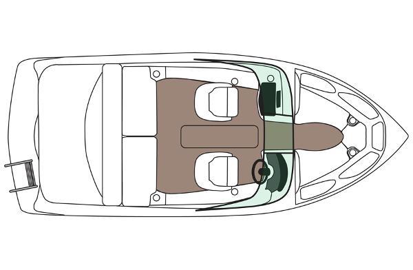 2014 Rinker boat for sale, model of the boat is Captiva 186 BR & Image # 5 of 5