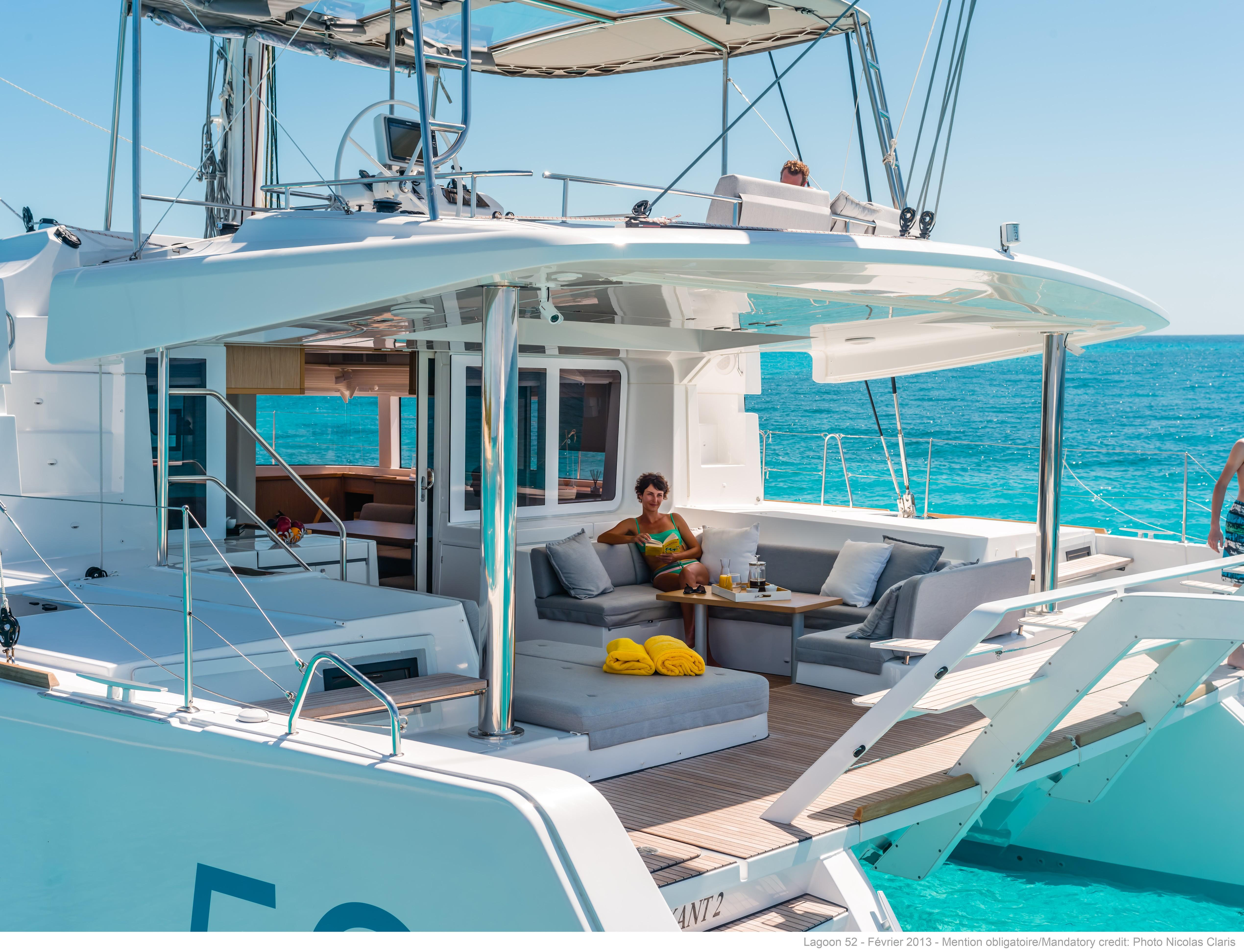 helloManufacturer Provided Image: Lagoon 52 F Cockpit
