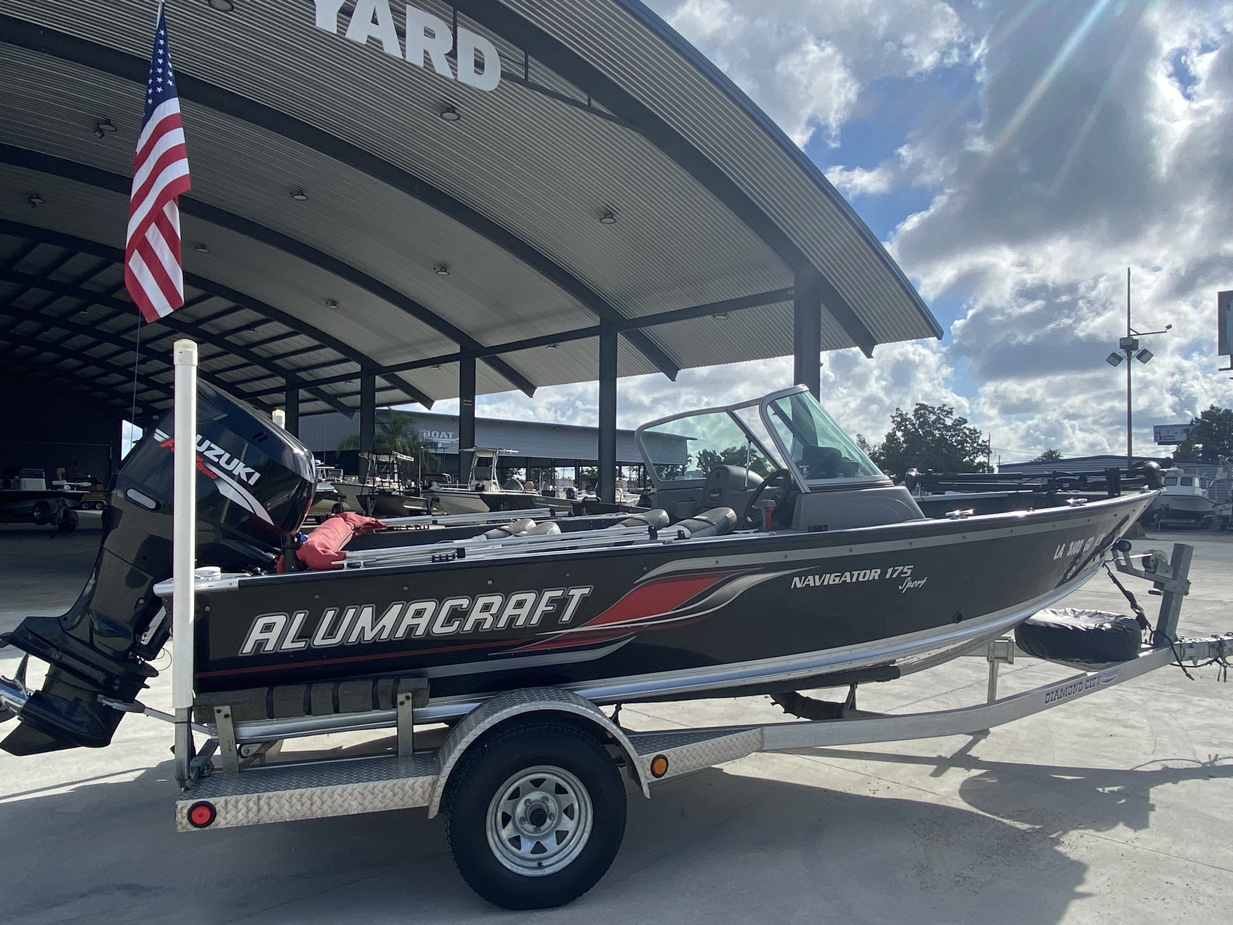 2008 Alumacraft boat for sale, model of the boat is 175 & Image # 10 of 12