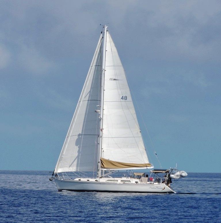 Outbound 46 Nauti Pleasure sailing