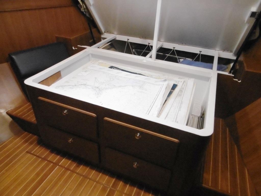 Storage under master berth