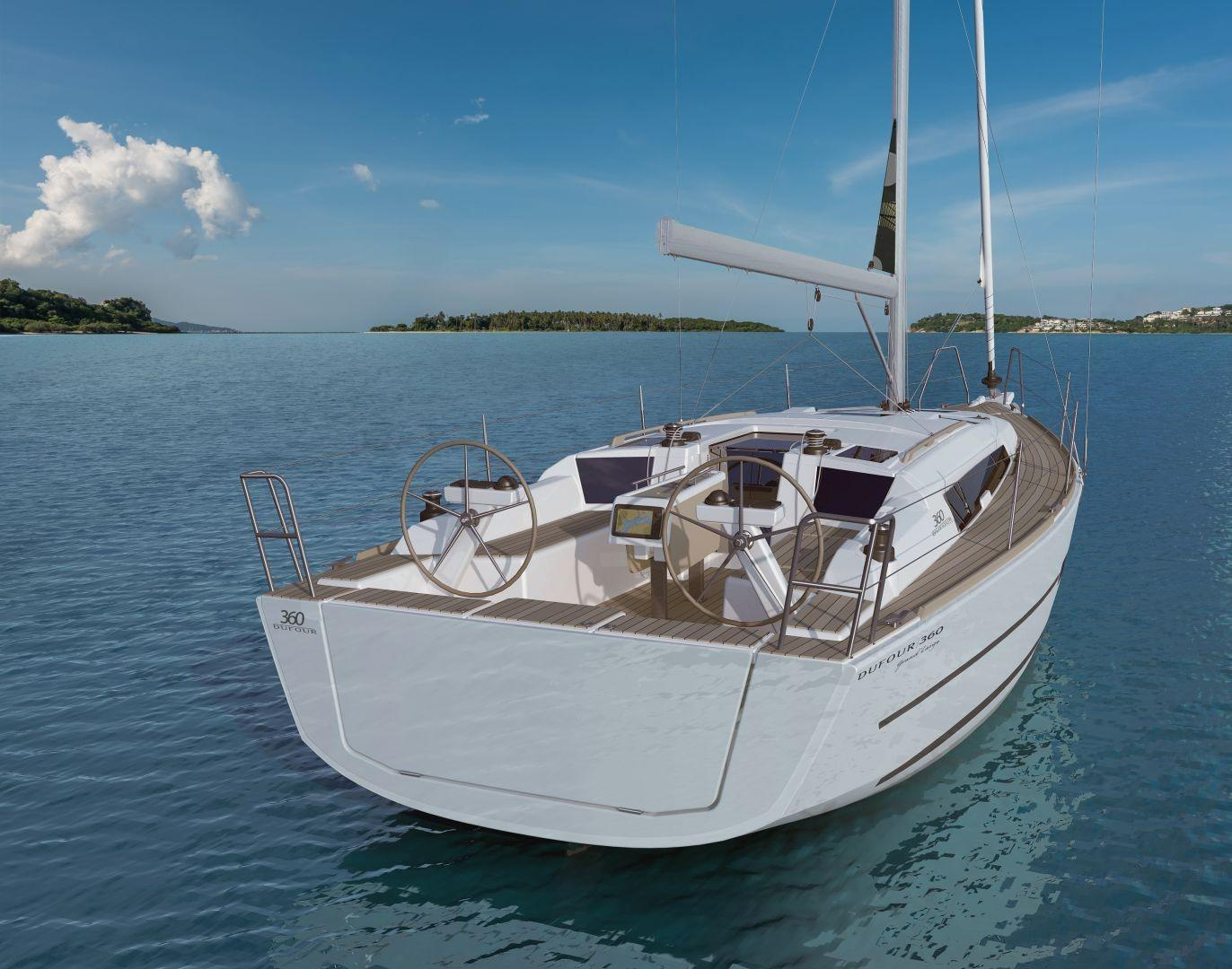Manufacturer Provided Image: Dufour 360 Grand Large Stern