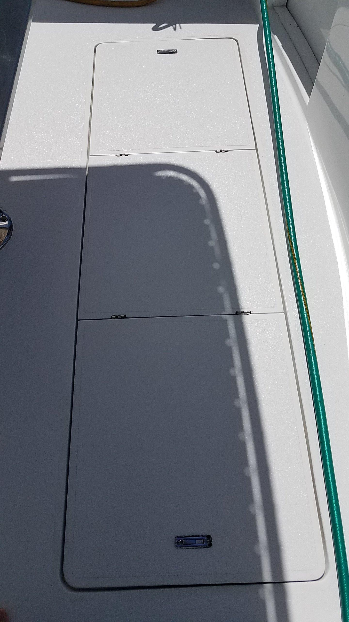 Fish Icebox in cockpit floor