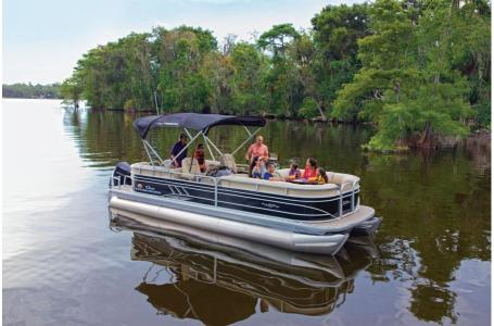 2020 Sun Tracker boat for sale, model of the boat is Signature Party Barge 24 XP3 w/150L 4S & Image # 3 of 3