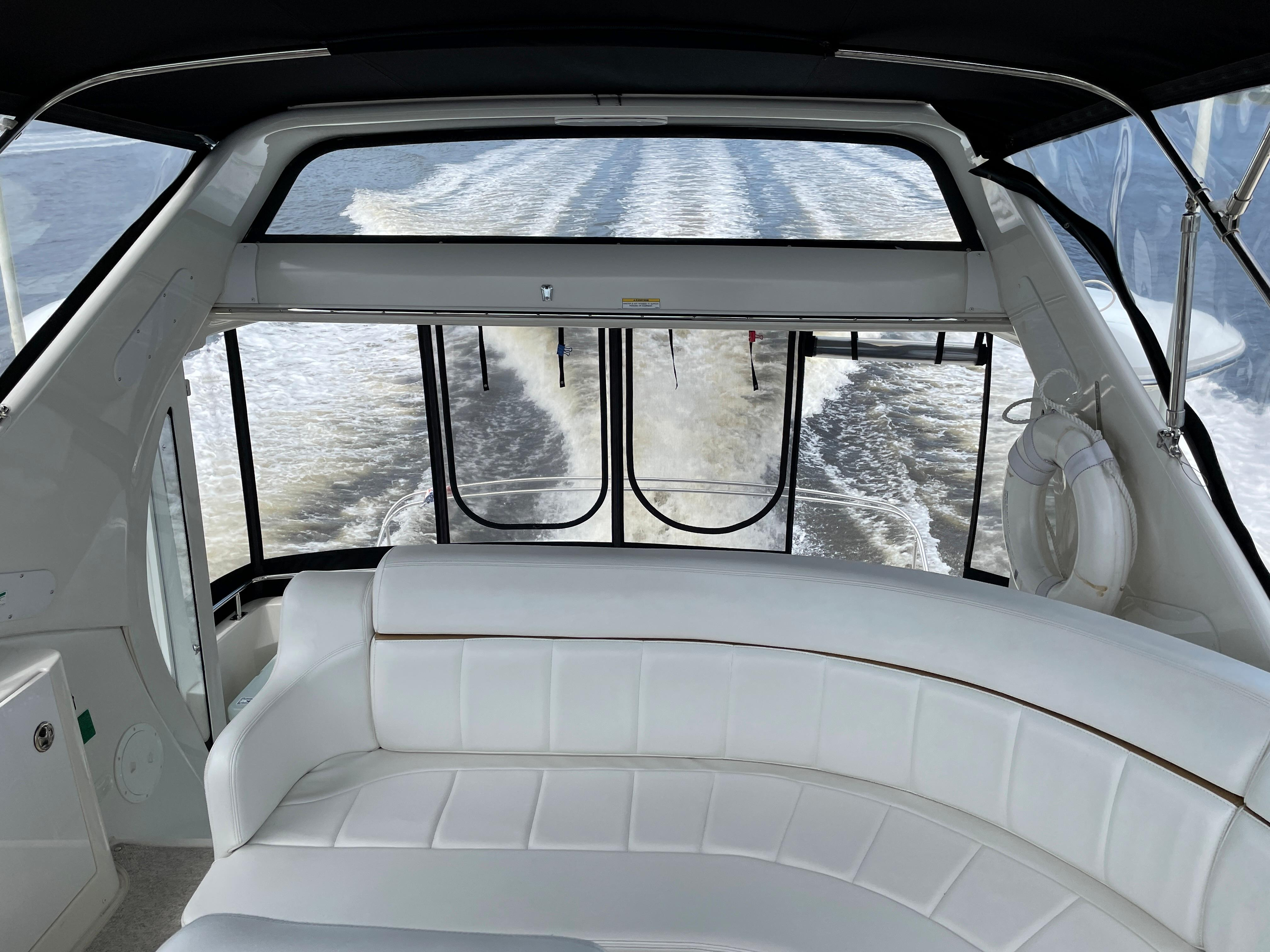 Carver 444 Cockpit Motor Yacht - Aft View from Helm