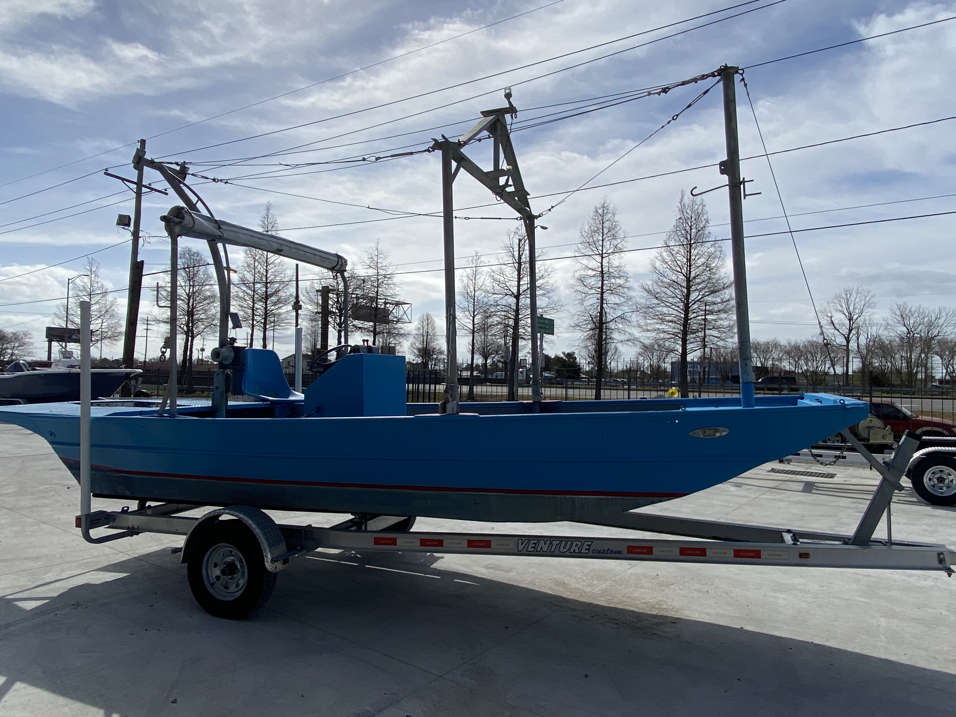 1978 Aluminum boat for sale, model of the boat is 18 Shrimp & Image # 3 of 12