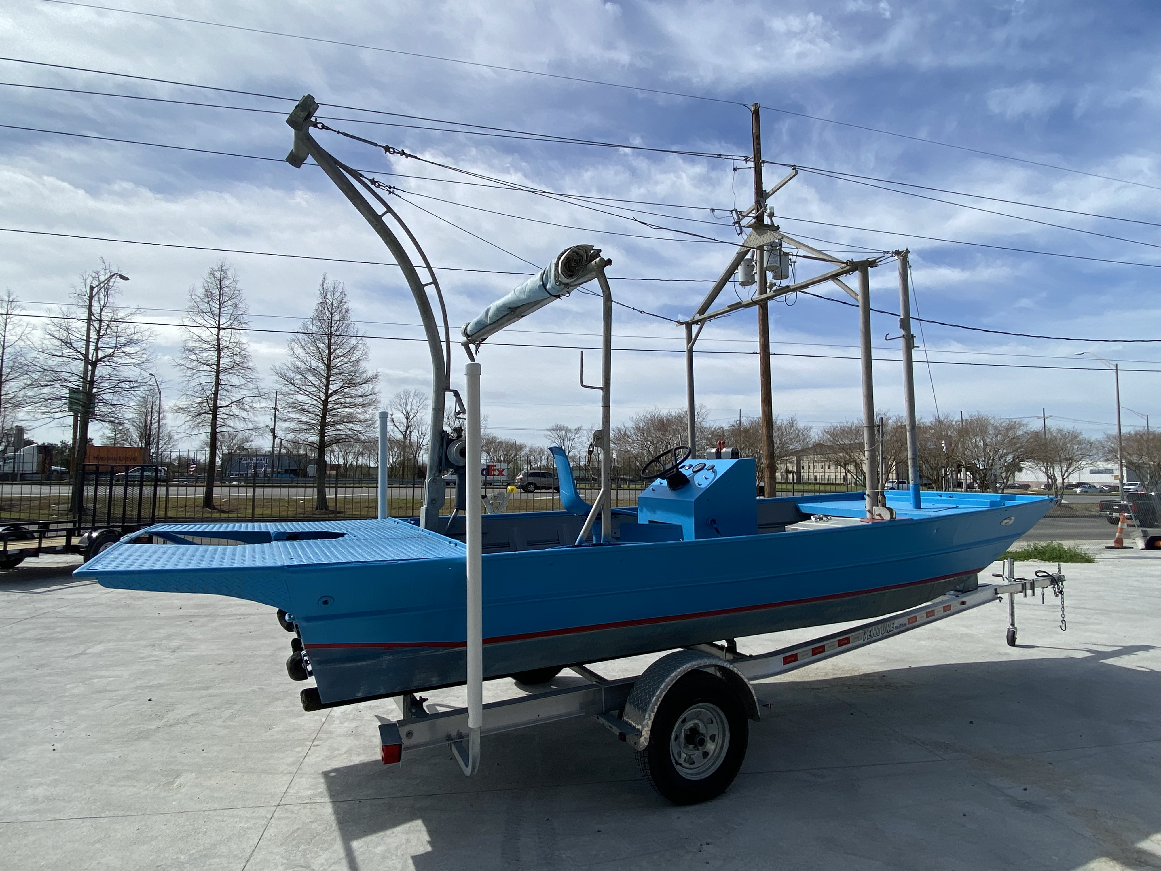 1978 Aluminum boat for sale, model of the boat is 18 Shrimp & Image # 4 of 12