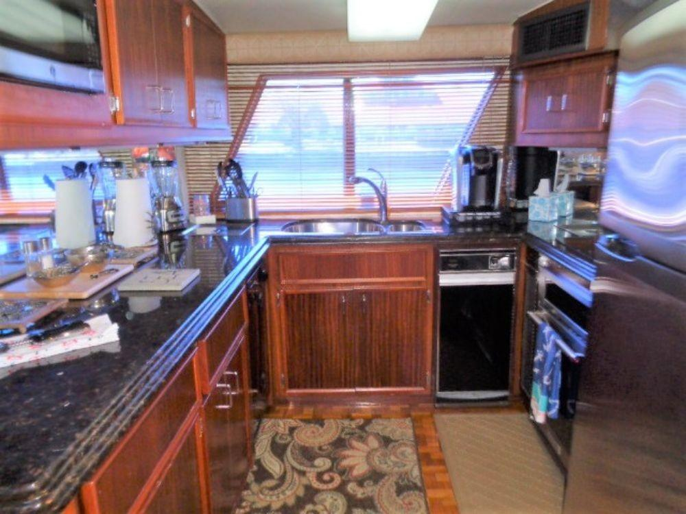 Hatteras 61 Motor Yacht - Galley, all new updated applinances