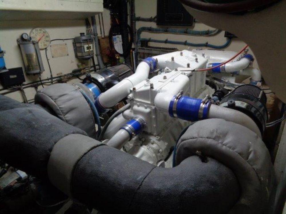 Hatteras 61 Motor Yacht - Port Engine Room forward