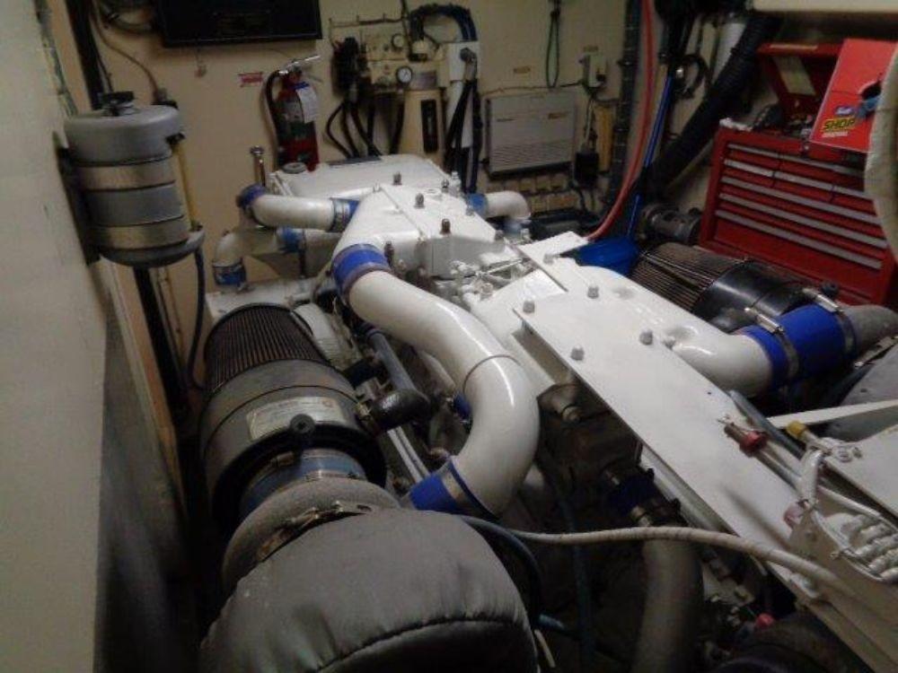 Hatteras 61 Motor Yacht - Starboard Engine Roomlooking forward