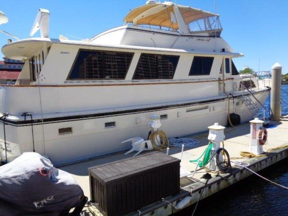 Hatteras 61 Motor Yacht - Starboard Profile