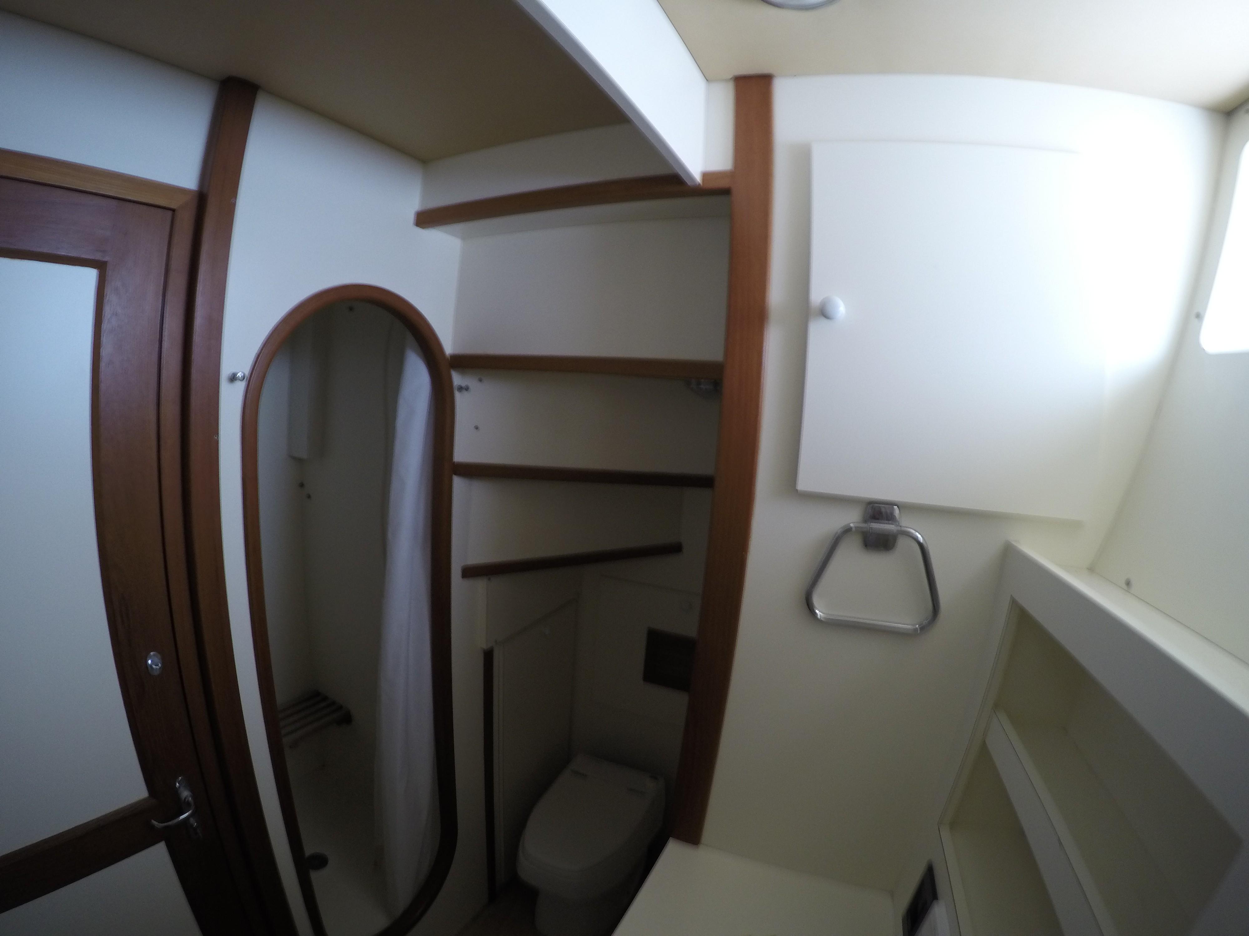 Each Cabin has own shower/toilet