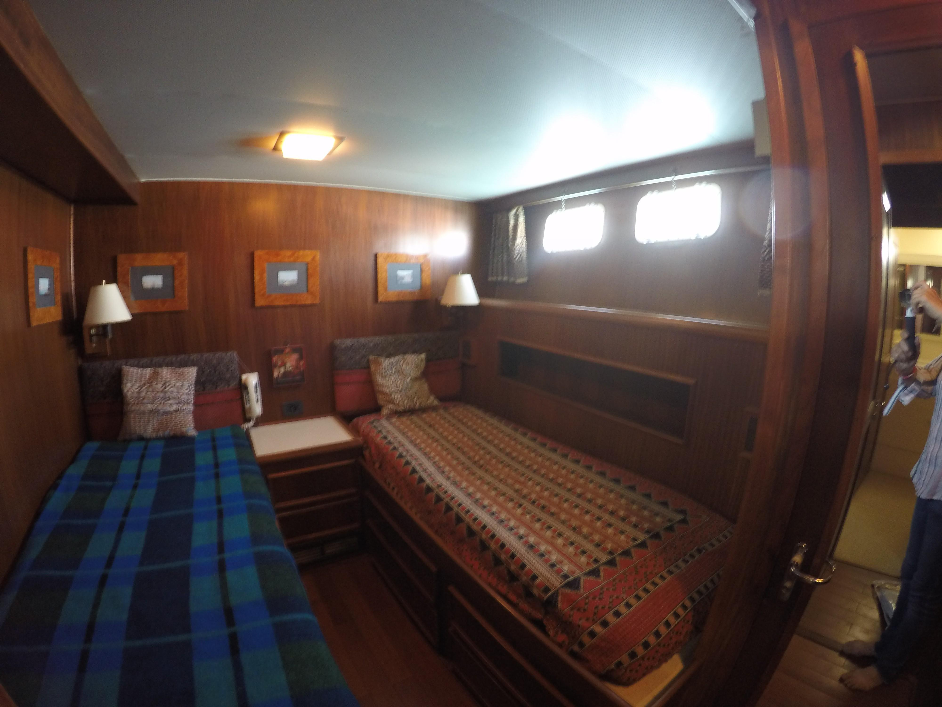 One of two twin cabins
