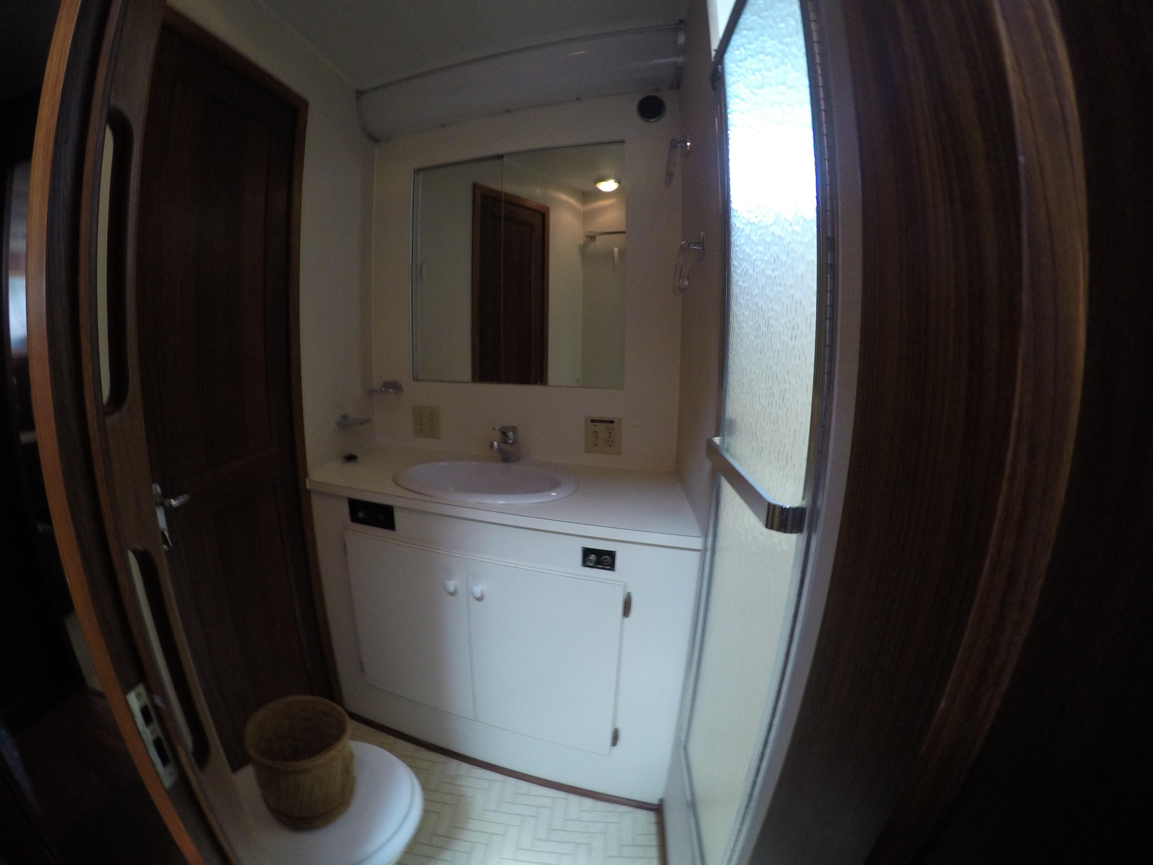 Each cabin has ensuite shower/toilet