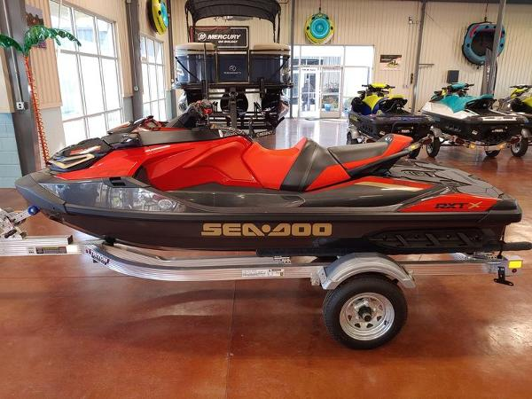 2020 Sea Doo PWC boat for sale, model of the boat is RXT®-X® 300 IBR Eclipse Black and Lava Red & Image # 1 of 4