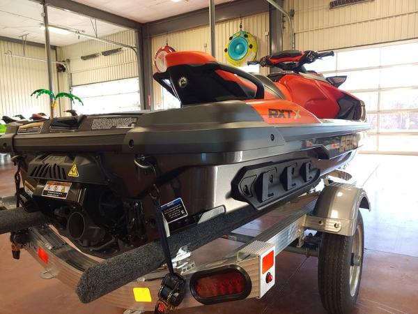 2020 Sea Doo PWC boat for sale, model of the boat is RXT®-X® 300 IBR Eclipse Black and Lava Red & Image # 2 of 4