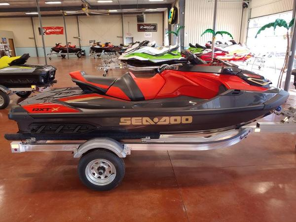 2020 Sea Doo PWC boat for sale, model of the boat is RXT®-X® 300 IBR Eclipse Black and Lava Red & Image # 4 of 4