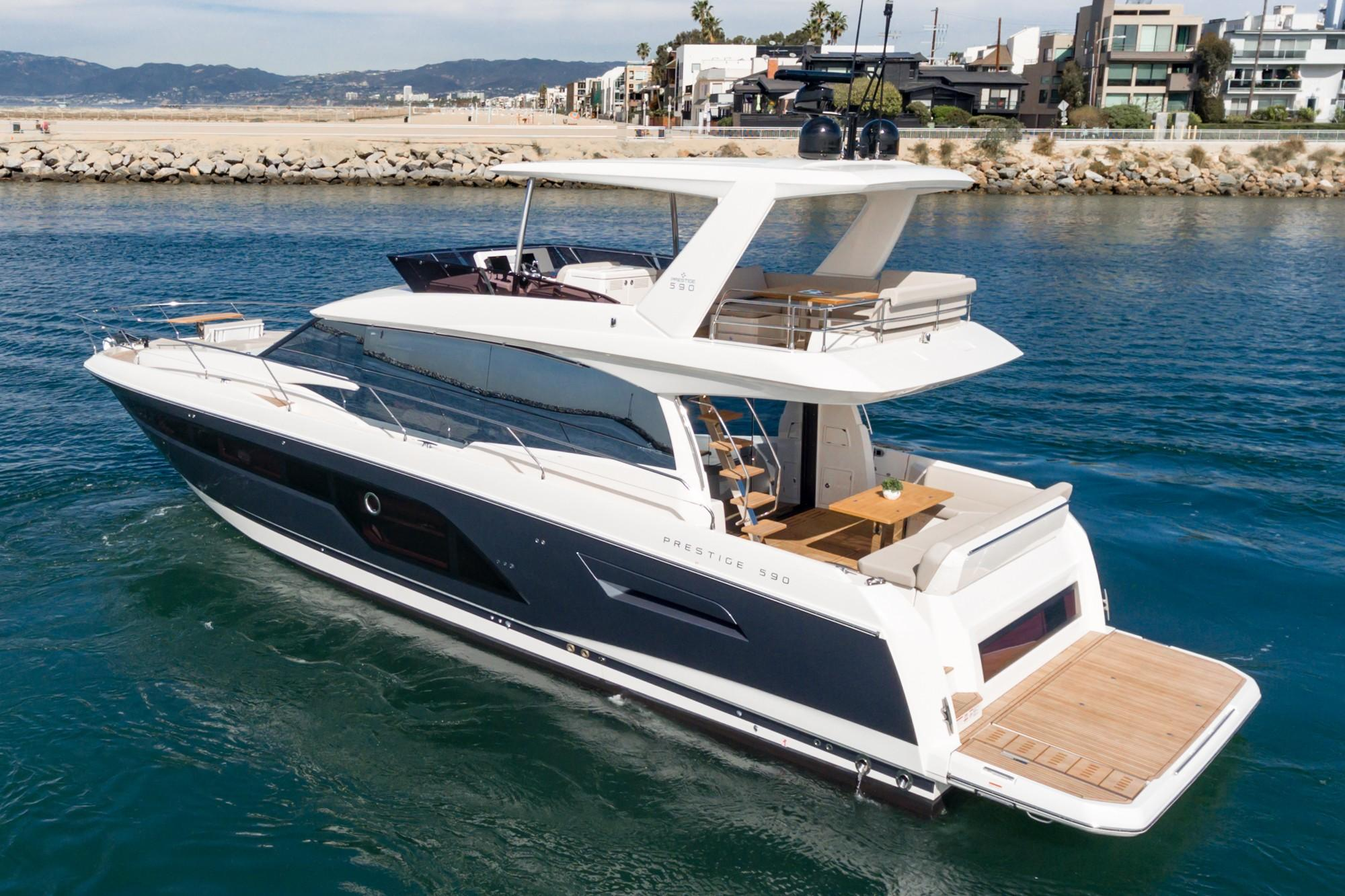 2021 Prestige 590 Fly #75338 inventory image at Sun Country Coastal in Newport Beach
