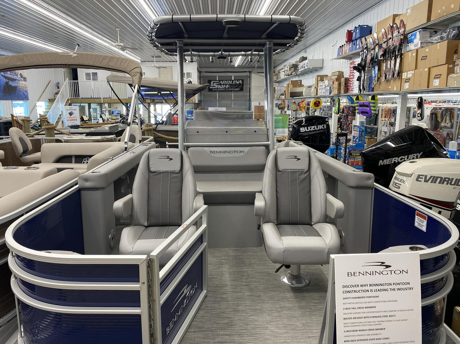 2020 Bennington boat for sale, model of the boat is 22 SCCTTX Center Console Tri-Toon & Image # 8 of 12
