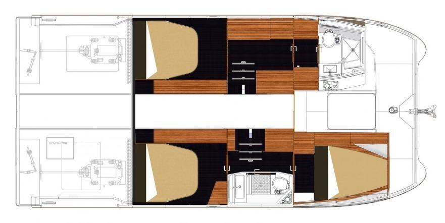 Fountaine Pajot MY 37 Lower Deck Layout Plan