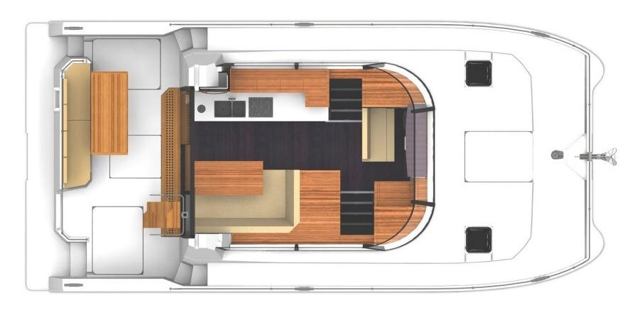 Fountaine Pajot MY 37 Upper Deck Layout Plan