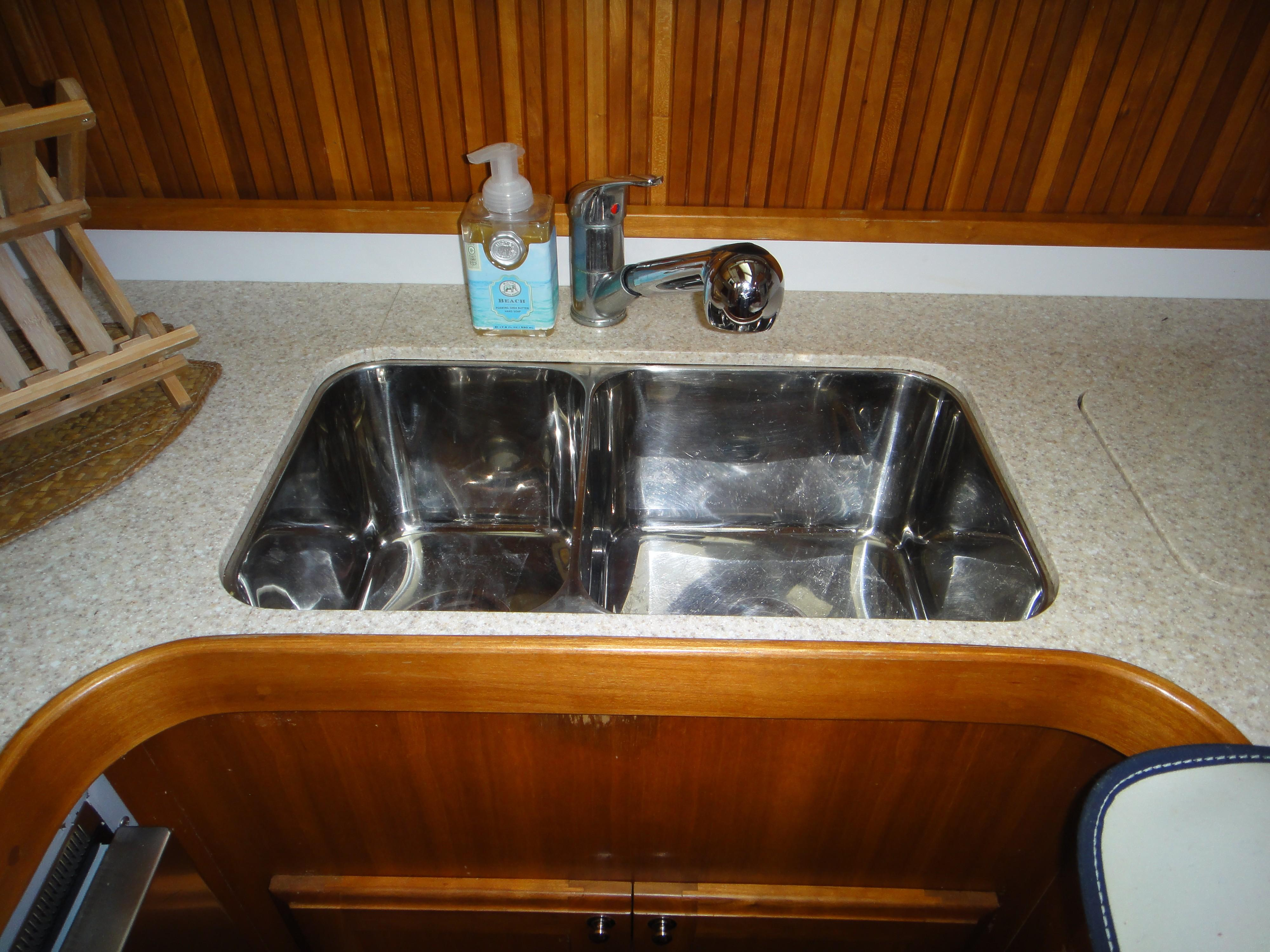 Stainless Steel Sink in Galley
