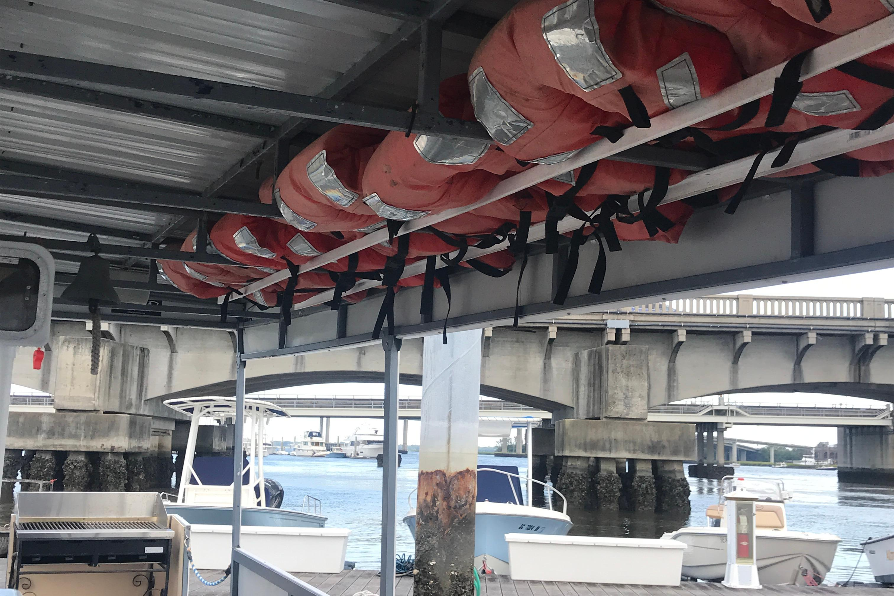 Southern Star 32 Commerical Catamaran - Starboard side overhead PFD storage