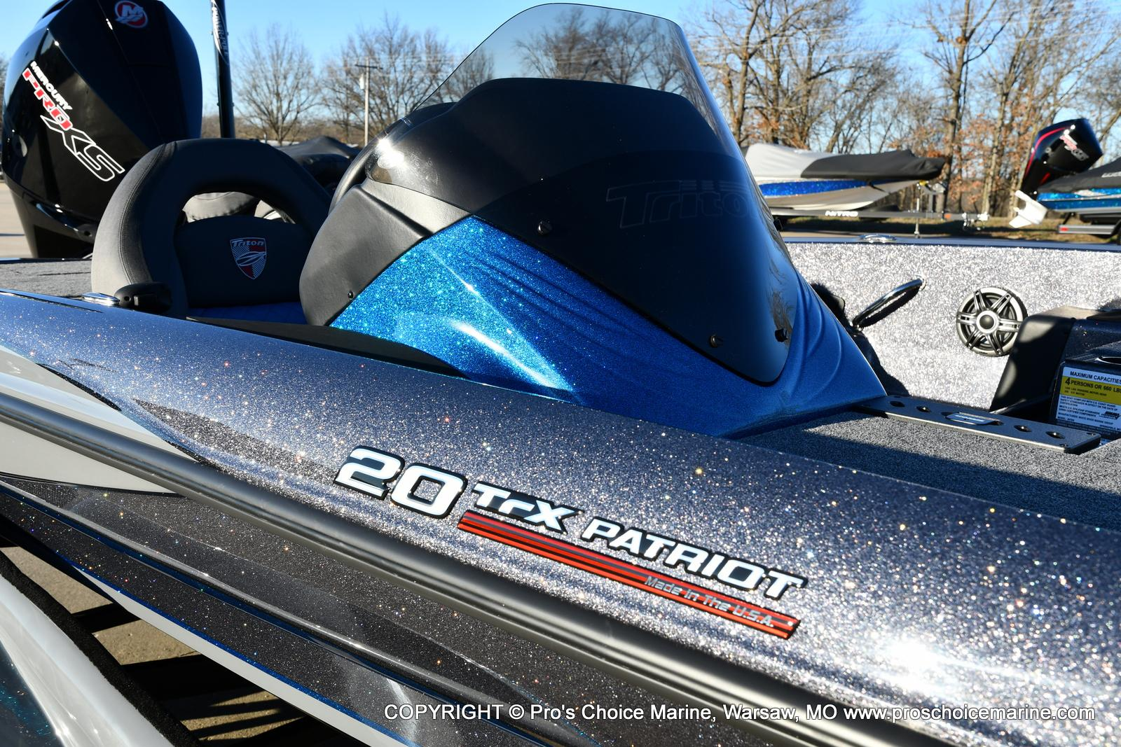 2021 Triton boat for sale, model of the boat is 20 TRX Patriot & Image # 2 of 50
