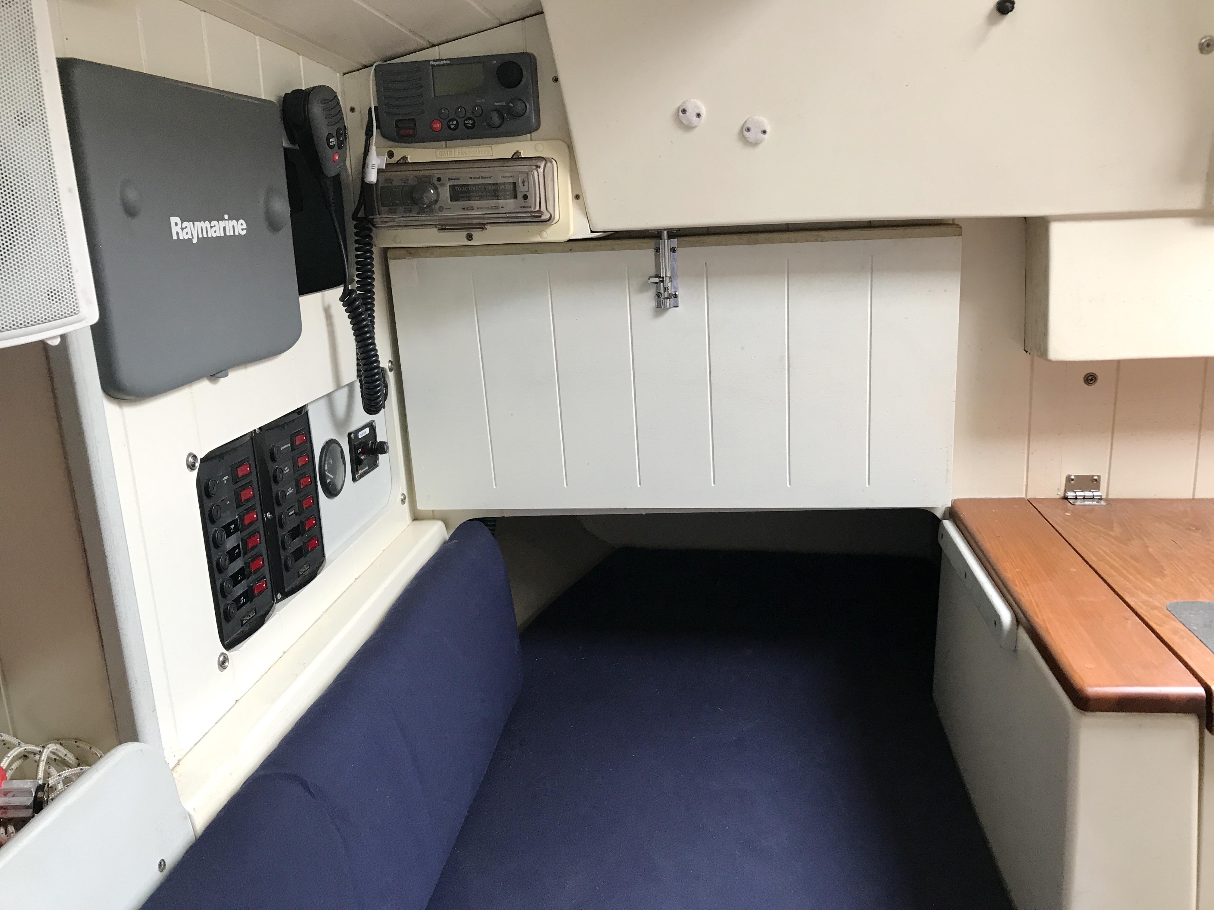 Cornish Crabbers Crabber 22 - nav station aft to starboard