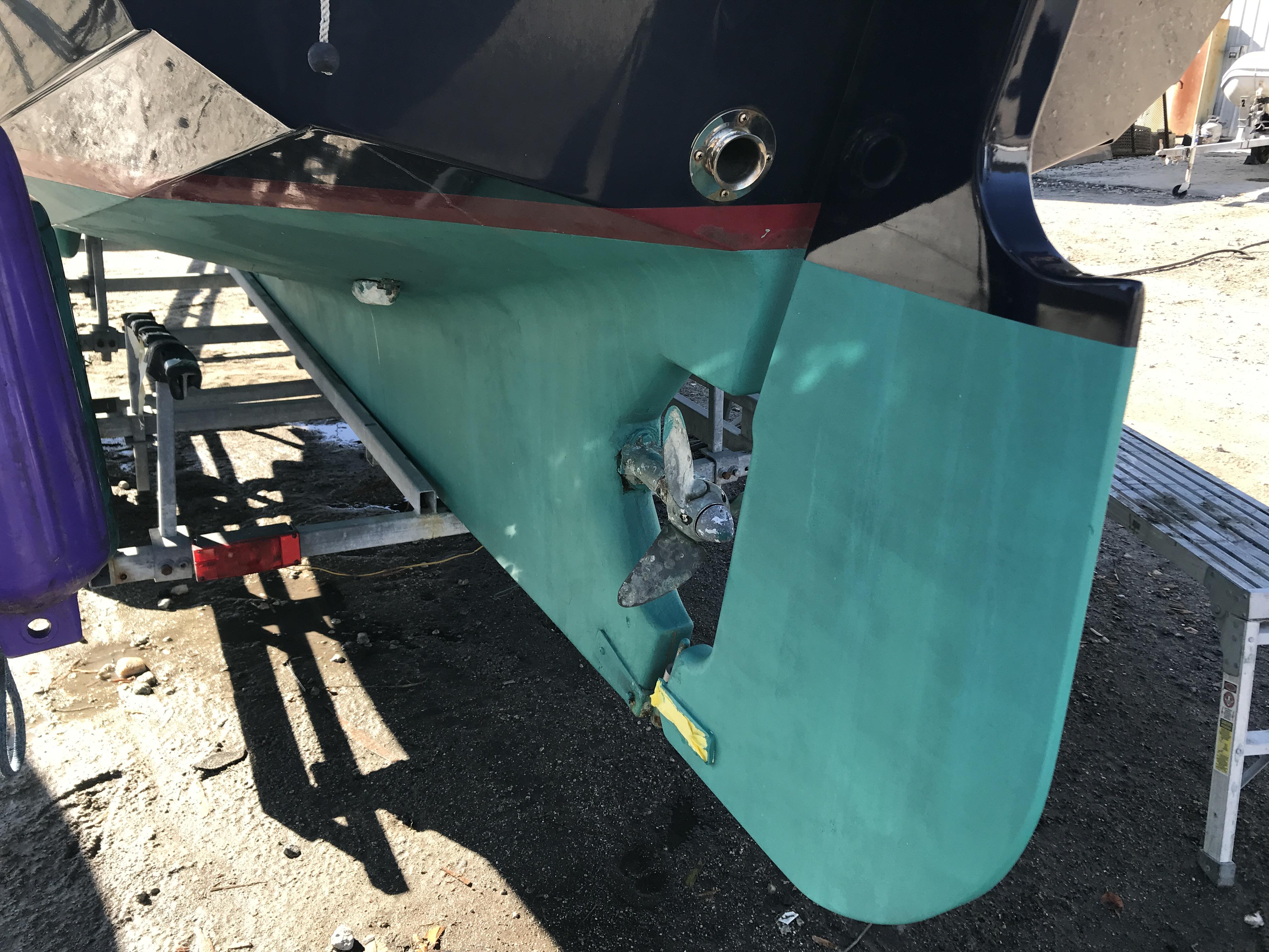 Cornish Crabbers Crabber 22 - new bottom paint keel and tiller