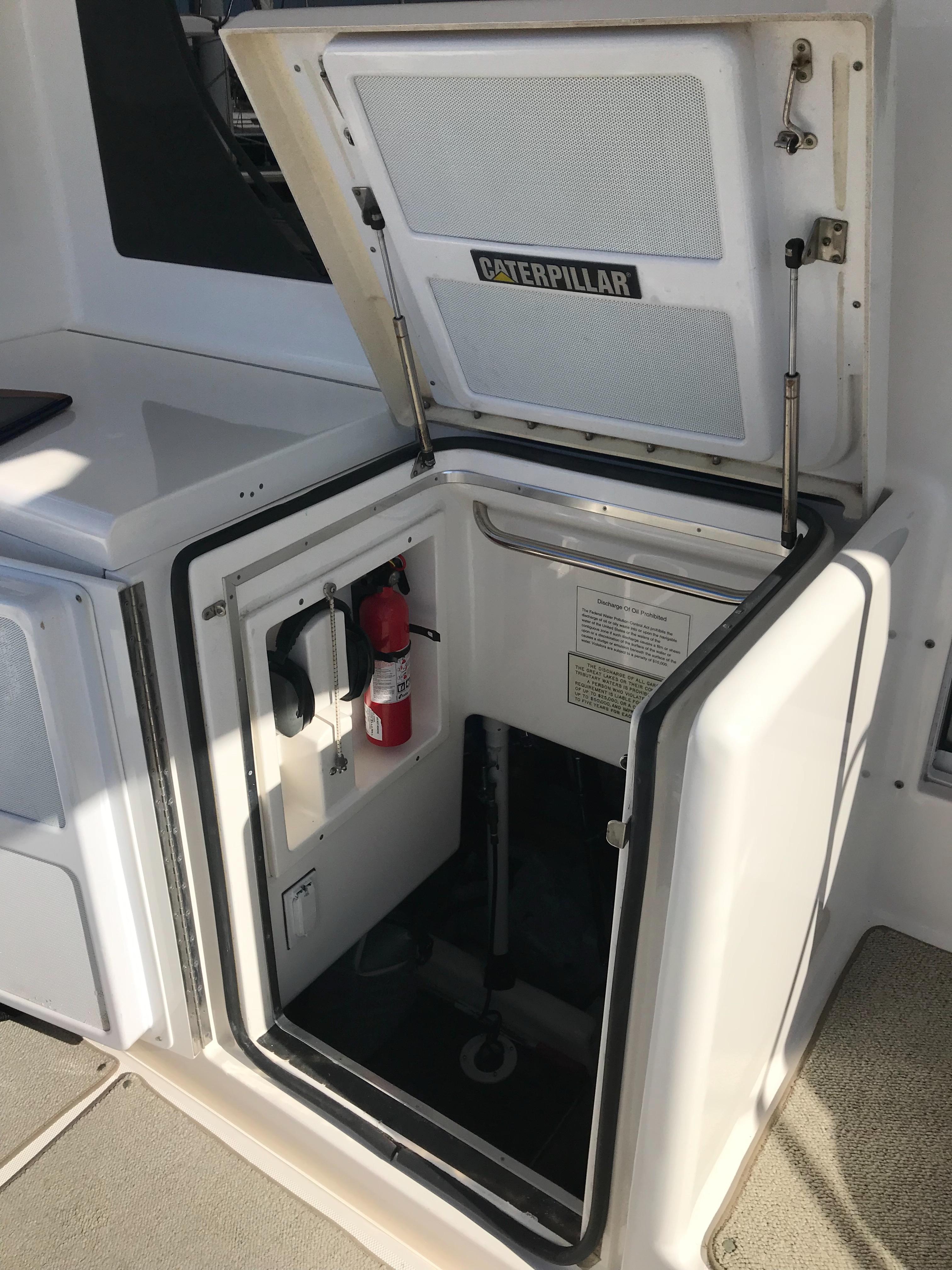 Silverton 48 Convertible - Engine Room Access