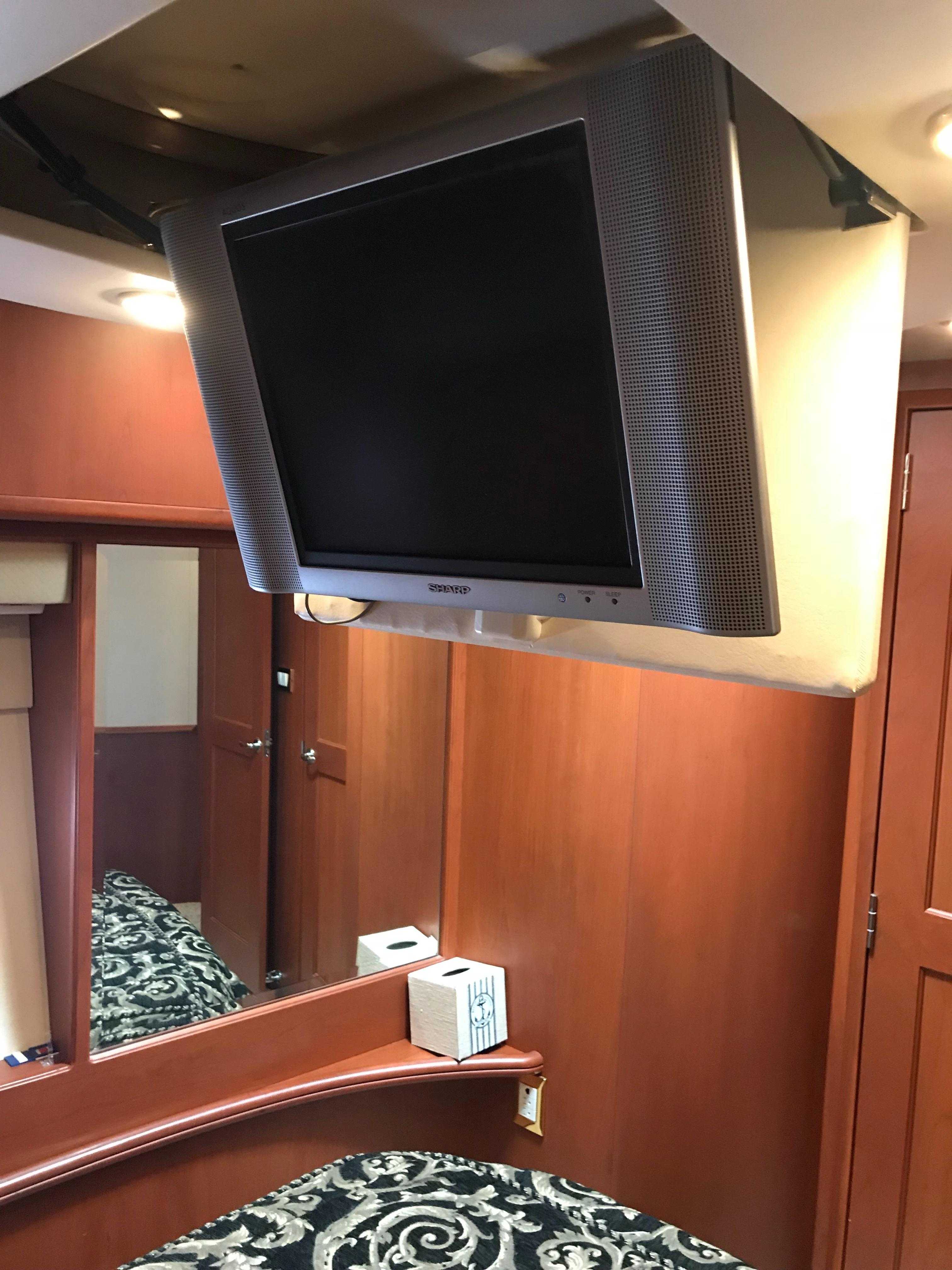 Silverton 48 Convertible - Drop Down TV over Master Berth