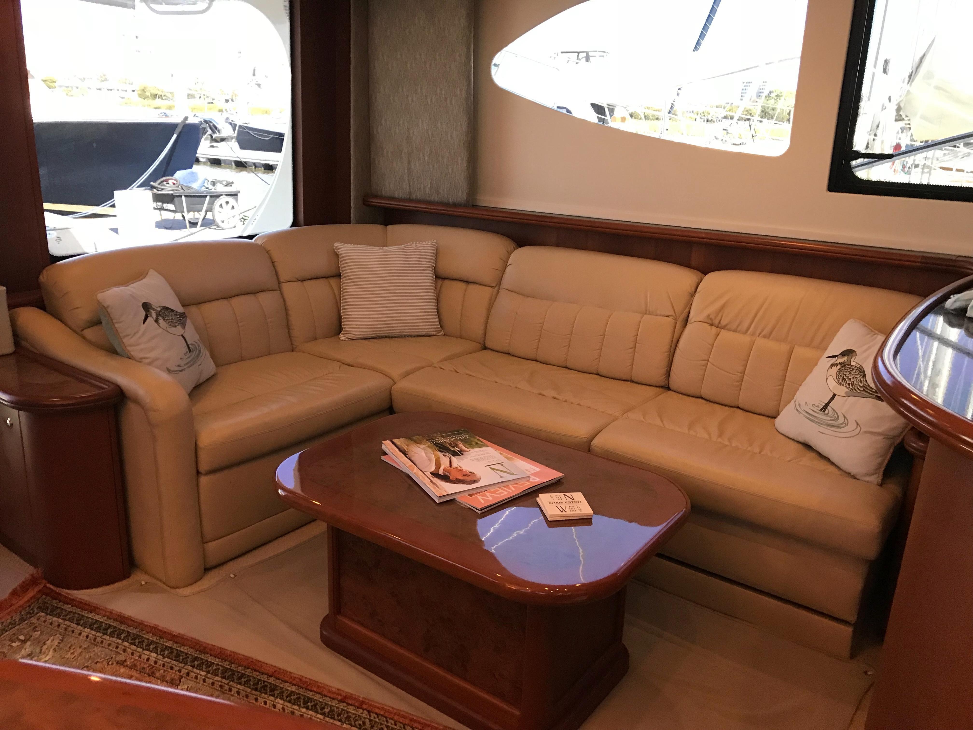 Silverton 48 Convertible - L-Shaped Sofa to Port