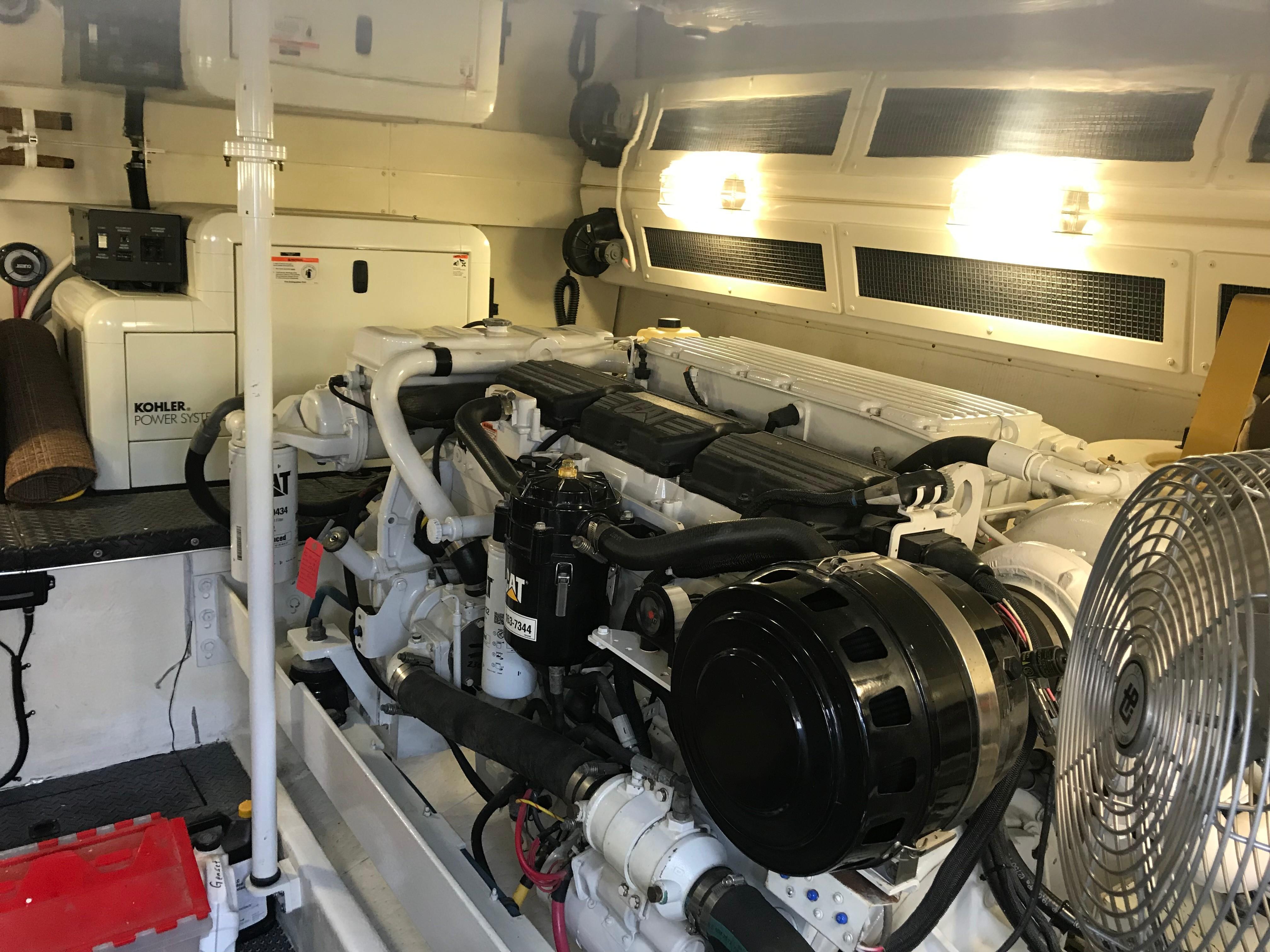 Silverton 48 Convertible - Generator forward of starboard engine