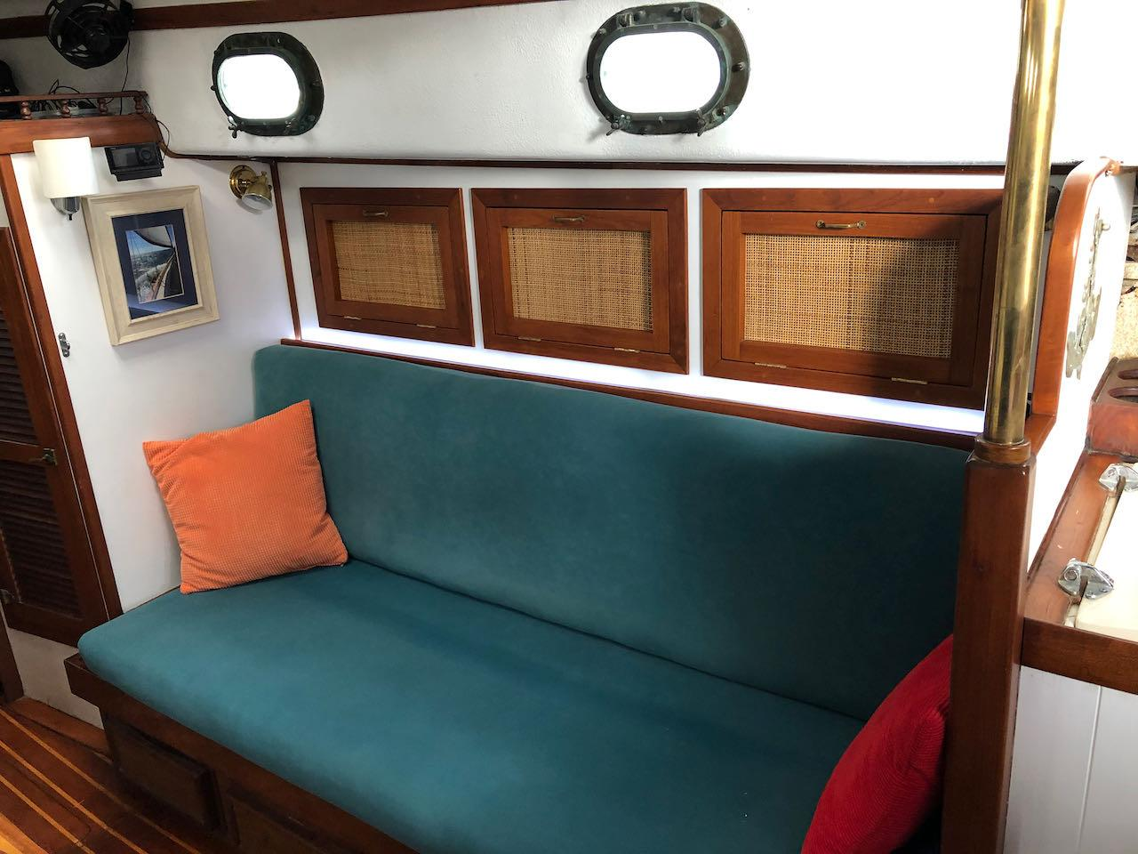Starboard-side Seating in main salon