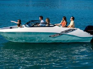 2021 Fibrafort 188 joy black edition met 100 pk tohatsu en trailer