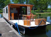 2022 Solar Electrische Houseboat Catamaran Coche Standaard