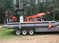 1998 Commercial Barge Crane with Trailer